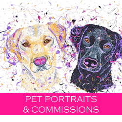 Pet Portraits & Commissions - Tamsin Thomson Art